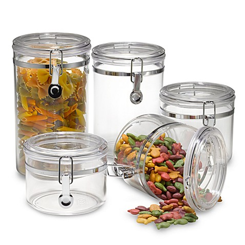 oggi kitchen canisters buy oggi acrylic 5 canister set from bed bath amp beyond 14410