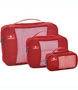 Eagle Creek™ Pack-It® Set de estuches de viaje en rojo fuego, 3 piezas