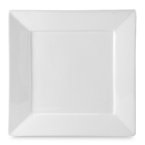 Everyday White®  by Fitz and Floyd® Rim Square Dinner Plate