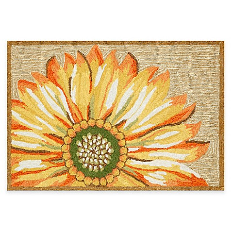 Trans Ocean Frontporch Sunflower Accent Rug Bed Bath
