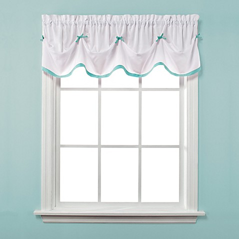 Buy Kayla Window Curtain Valance In Turquoise From Bed Bath Beyond