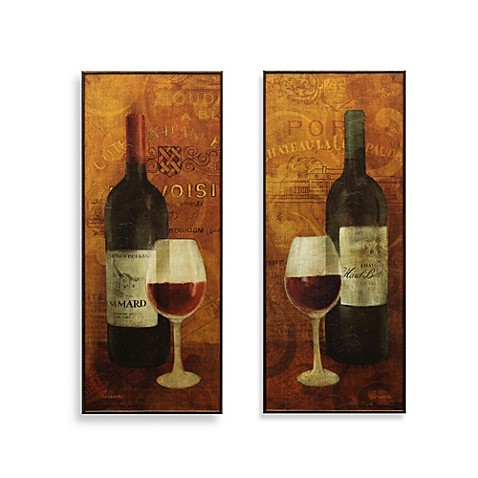 Wine Decor Wall Art wine décor, wine wall art & bottle decorations - bed bath & beyond