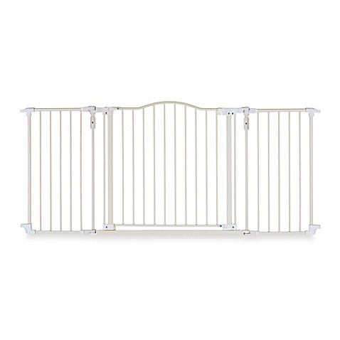 North States Deluxe Decor Gate In Linen Bed Bath Amp Beyond