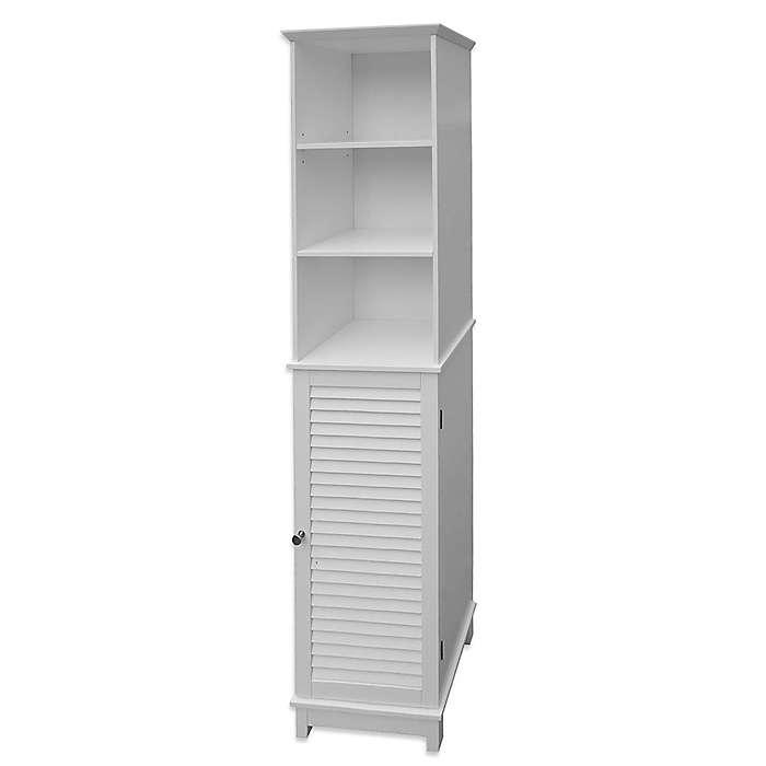 Mueble alto de MDF para baño Summit® color blanco