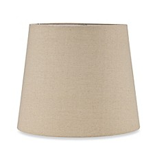 image of mix u0026 match large 13inch hardback burlap drum lamp shade in oatmeal