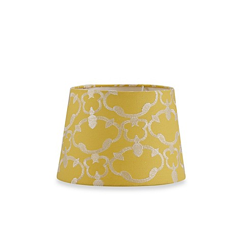 Mix & Match Small 10-Inch Embroidered Hardback Drum Lamp Shade in Yellow