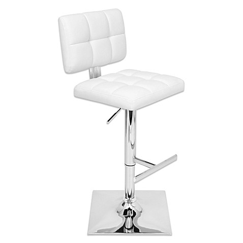 Lumisource Glamour Bar Stool In White Bed Bath Amp Beyond