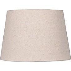 image of mix u0026 match medium 14inch hardback burlap lamp shade in beige
