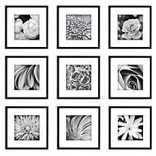 image of gallery perfect 9 piece square frame kit