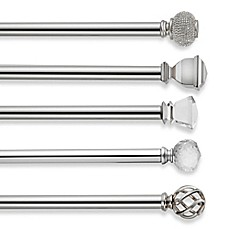 image of cambria premier complete decorative window curtain hardware in polished nickel