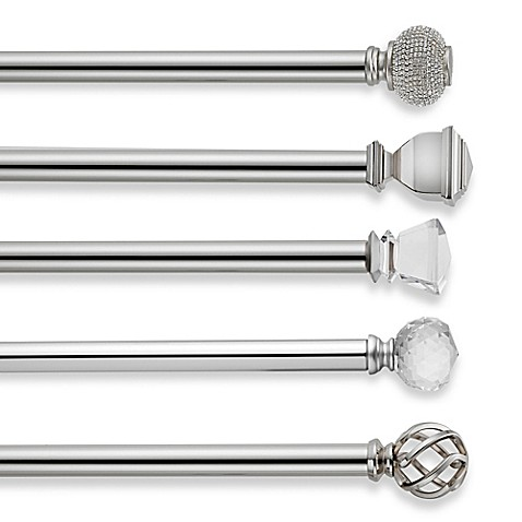 Cambria Premier Complete Decorative Window Curtain Hardware In Polished Nickel Bed Bath Beyond