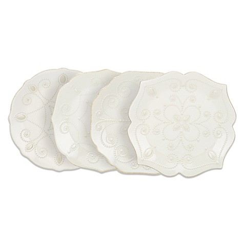 Lenox® French Perle™ Accent Plates in White (Set of 4)