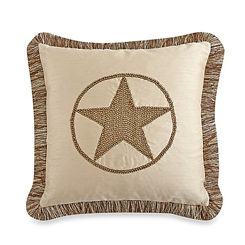 Throw Pillow Trim : Texas Star 18-Inch Square Throw Pillow with Trim in Natural - Bed Bath & Beyond