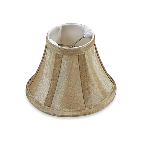 Mix Amp Match Small 6 Inch Clip On Bell Lamp Shade In Beige