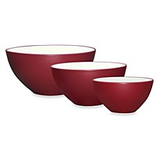 image of Noritake® Colorwave 3-Piece Mixing Bowl Set in Raspberry
