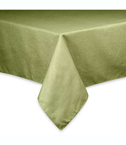 Mantel redondo con diseño de canasta, 1.52 m en verde salvia