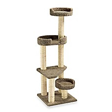 image of Family Cat Cat Tower with Sky Lookout and Lounger