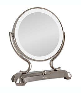 Espejo de tocador Zadro™, grande con aumento y luz 1x/5x