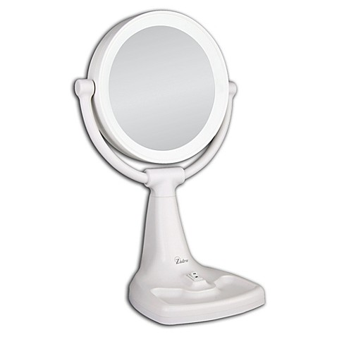 Image result for Zadro Max Bright Sunlight Dual Sided Vanity Mirror, White, 10X/1X Magnification