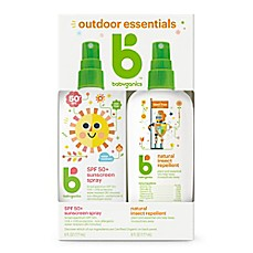 image of Babyganics® 2-Pack Mineral-Based Sunscreen Spray + Natural Insect Repellent