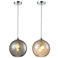 image of HGTV Home Watersphere 1-Light Pendant Light in Polished Chrome