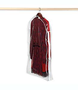Bolsa para trajes de vinilo transparente