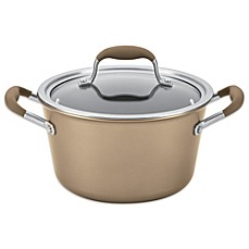 image of Anolon® Advanced Umber 4.5 qt. Tapered Covered Saucepot
