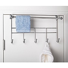 Image Of Over The Door Hook Rack With Towel Bar