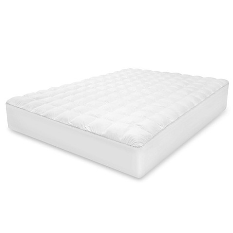 therapedic® top loft gel fiber mattress pad - bed bath & beyond