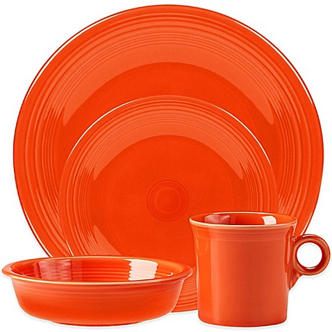 Fiestau0026reg; 4-Piece Place Setting in Poppy  sc 1 st  Bed Bath u0026 Beyond & Fiesta® 4-Piece Place Setting in Poppy - Bed Bath u0026 Beyond