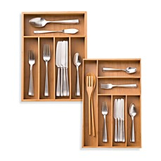 Kitchen drawer organizers dividers utensil organizers bed bath bamboo cutlery tray workwithnaturefo