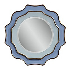 image of Bassett Mirror Company Caprice Mirror in Blue with Gold Leaf