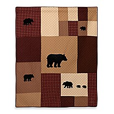 image of Donna Sharp Logan Bear Quilted Throw