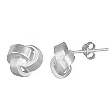 image of Sterling Silver Love Knot Post Earrings