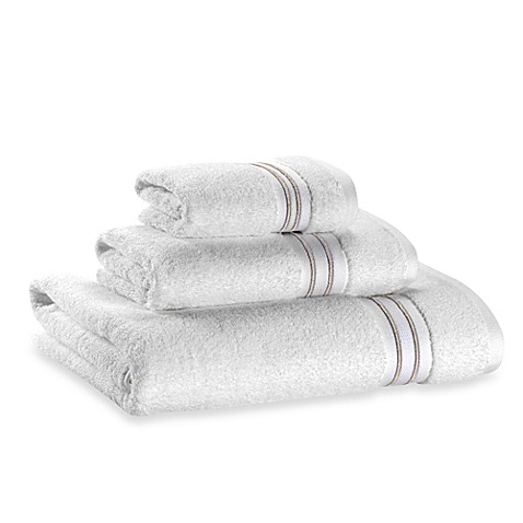 Wamsutta® Hotel Micro-Cotton Bath Towel in White/Tan