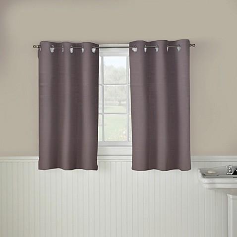 Buy Hookless Waffle 45 Inch Window Curtain In Dark Grey From Bed Bath