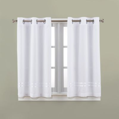 HooklessR Escape 45 Inch Bath Window Curtain Panels
