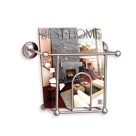 Taymor Wall Mount Magazine Rack Bed Bath & Beyond
