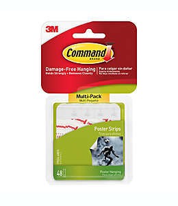 Tiras adhesivas 3M Command™ para colgar posters Set de 48
