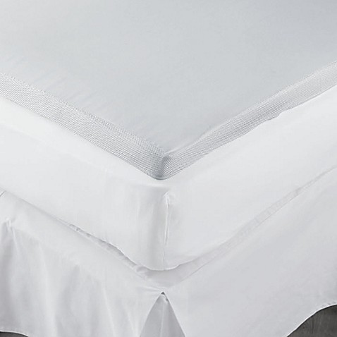 image of therapedic 2inch memory foam mattress topper