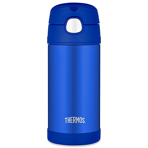 Thermos 12 oz stainless steel straw bottle in blue - Thermos a the ...