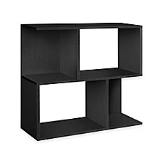 image of Way Basics Tool-Free Assembly Soho Bookcase and Storage in Black Wood Grain