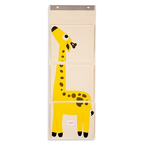 3 sprouts giraffe wall organizer buybuy baby. Black Bedroom Furniture Sets. Home Design Ideas
