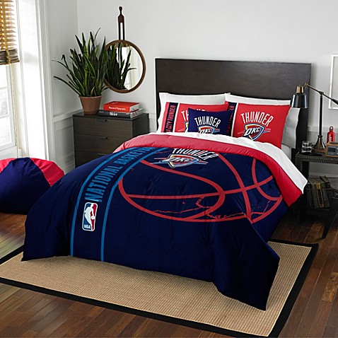 Amazing Nba Oklahoma City Thunder Embroidered Comforter Set Bed Bath