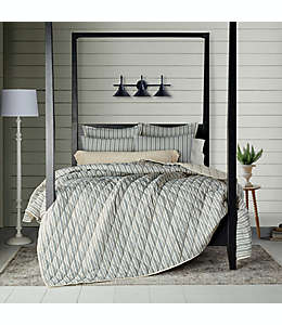 Set de colcha king Bee & Willow™ Home Quarry a rayas color gris y natural