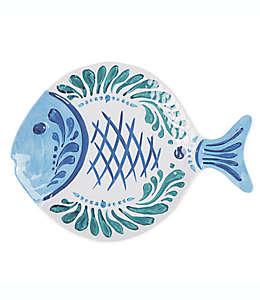 Platón de melamina Destination Summer con forma de pez
