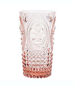 Vaso de plástico alto Destination Summer vintage color rosa