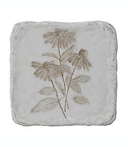 Cuadro decorativo de resina con diseño botánico Bee & Willow™ Cone Flower color blanco