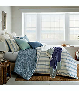 Set de edredón king de algodón Bee & Willow™ Home color azul, 3 piezas
