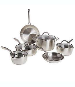Bateria de cocina Our Table™ de acero inoxidable, 10 piezas